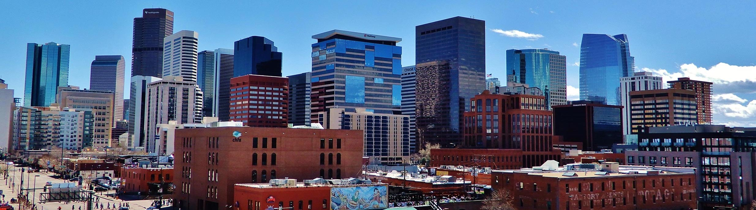 lodo in denver buildings skyline